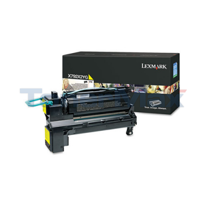 LEXMARK X792 PRINT CARTRIDGE YELLOW 20K